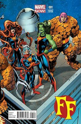 Ff Issue 1 - Mark Bagley Connecting Variant Cover - Marvel Now Fantastic Four