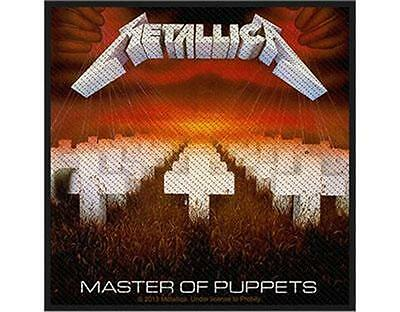 Official Licensed - Metallica - Master Of Puppets Sew On Patch Metal New