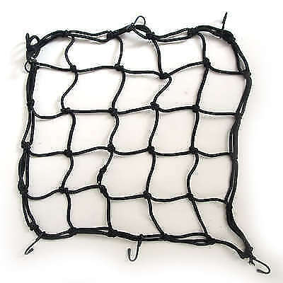 CARGO NET MOTORCYCLE  MOTORBIKE HIGH TENSILE 4mm ELASTICATED CARGO NET BLACK