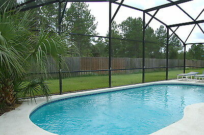 610 4 bed florida holiday home with large pool in gated community near Disney