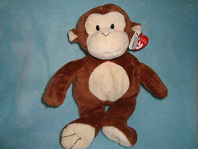 TY PLUFFIES 2010 Brown & Cream Colored Monkey DANGLES W/Tags