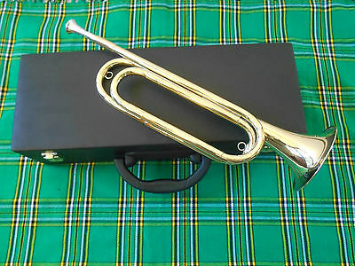 New US Military Model Bugle/US Scout Bugle Double Bended Made Of BrassWith Case
