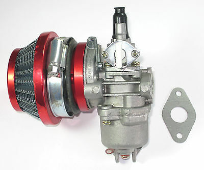 CARBURETOR AND FILTER FOR 2 STROKE 47 49CC SCOOTER MOPED MINI ATV POCKET BIKE.