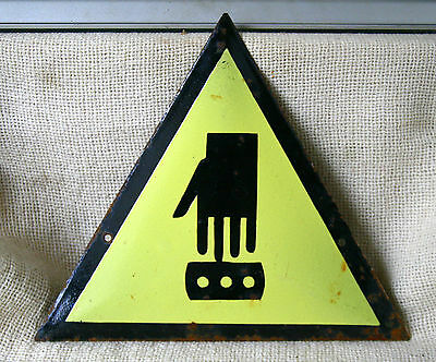 VINTAGE 1960`s  ENAMEL PORCELAIN TIN SIGN PLATE - WARNING  DANGER #8