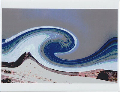 """Hawaii Wave Art  Unmounted Giclee Photograph From Transparency On 8.5 X 11"""""""