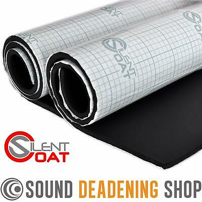 Silent Coat Isolator 2 Large Sheets 10mm Insulation Foam Car Van Sound Proofing