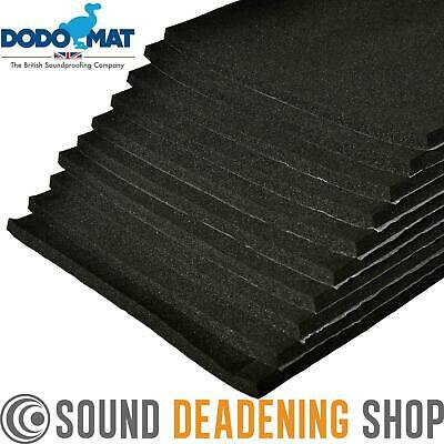 10 Sheets Dodo Super Liner Car Van Sound Proofing Deadening Insulation Foam 12mm