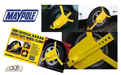 Universal Heavy Duty Wheel Clamp / Immobiliser - Car Van Caravan Trailer