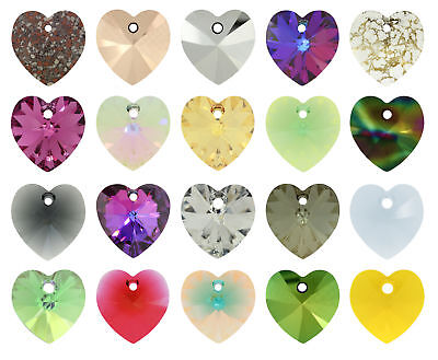 Genuine SWAROVSKI XILION 6228 Crystal Heart Pendants * More Colors & All Sizes