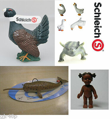 Official Schleich Figures Retired Dinosaur European Grouse Pheasant Geese Goose