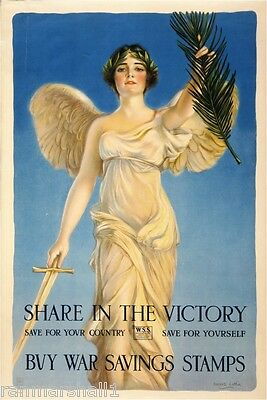 1915 Share Victory WWI American Patriotic Wartime Advertisement Poster Print