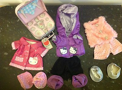 Chad Valley Design a Bear Bumper Set Of Clothes & Pink Suitcase For Designabear