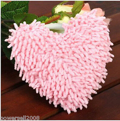 Pet Dog Cat Lovely Pink Plush Heart-Shaped Device Molar Teeth Sound Toy &$
