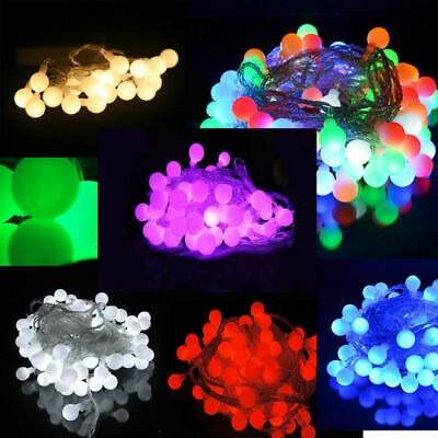 Battery Operated Berry Ball Shaped LED Fairy Lights 20, 40 LEDs: Static ON+Flash