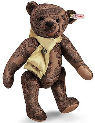 Steiff Anthony Teddy Bear Brown Jacquard Jointed 32cm 1500 Limited Ed 035395 New