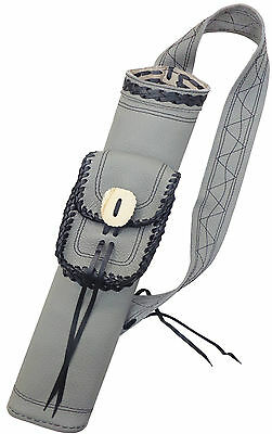 Target Fine Buffalo Leather Back Arrow Hand Made Quiver Archery Product Aq164