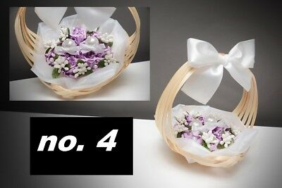 Basket for wedding rings/ wedding ring cushion NEW- 5 colors