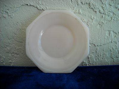Akro Agate Large Octagonal Saucer  Pink