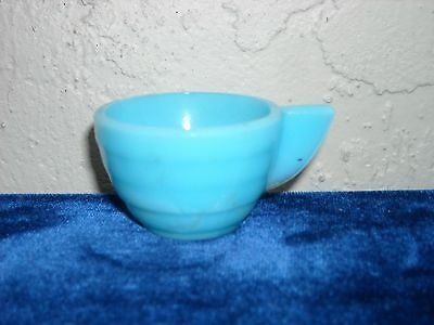 Akro Agate Stacked Disc Cup  Light Blue