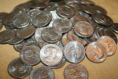 100 Susan B Anthony Dollars  Big hoard of dollar coins Great lot and price!