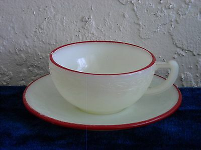 Laurel Children's Toy Cup and Saucer with Red Trim  As Is