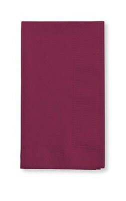 100 Pk Burgundy Dinner Napkins Disposable Wedding Party Bulk Supply Quality!