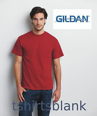 100 Gildan T-SHIRTS BLANK BULK LOT in Colors or 112 White S M L XL Wholesale .