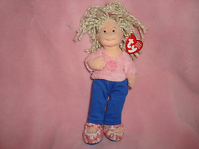 "Teenie Beanie Boppers Ty 2002  Plush Doll Sweet Sally 8"" tall w/tags"