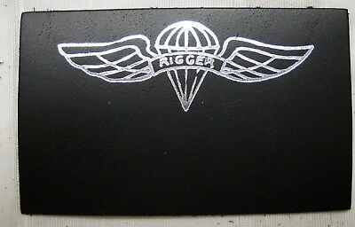 ARMY PARACHUTE RIGGER  leather patch