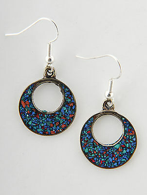Special Mother's day gift small round drop earrings handmade fairtrade free box