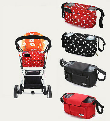 Strollers Organizer Basket Pushchair Baby Diaper Nappies Mother Expanded Bag