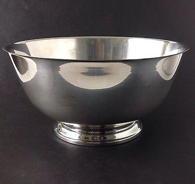 """Vintage Oneida Paul Revere Reproduction Silverplate 10"""" Footed Serving Bowl"""