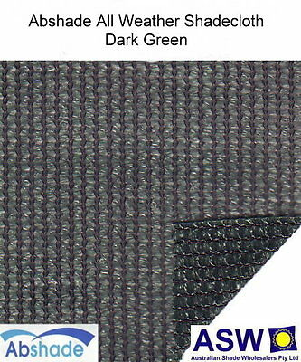 1.83m wide ALL WEATHER SHADECLOTH DARK GREEN Waterproof Coated Shade Cloth