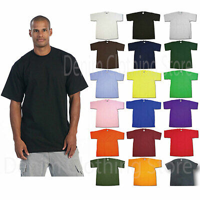 1 New Pro Club Men's Blank Heavy Weight Short Sleeve T-Shirt Any Color 5Xl -7Xl