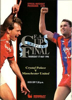 FA CUP FINAL 1990 REPLAY: Manchester United v Crystal Palace