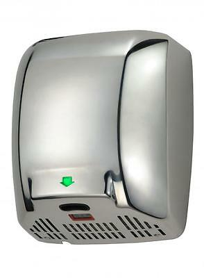 GLX High Powered ELECTRIC HAND DRYER Chrome Polished METAL Auto Automatic ECO