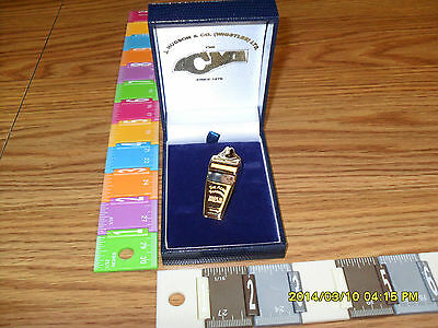 Referee Whistle Metal Whistles Acme#60.5Gp Metal Whistle Gold Plated With Case!