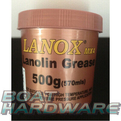 Lanox MX4 Lanolin Grease Protects Timber Leather Anti Moisture/Corrosion/Fouling