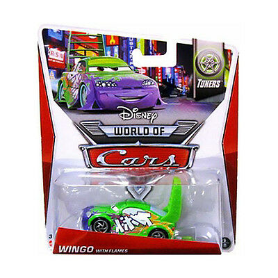 disney PIXAR cars 2 world of cars WINGO WITH FLAMES 1:55 mcqueen TUNERS