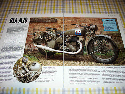 BSA M 20 motorcycle ad