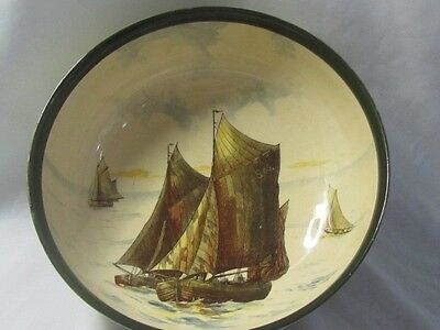 Royal Doulton Series-ware Rare Large Ships Bowl