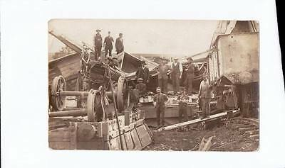 1913 Rp Npu Postcard Sar Major Rail Disaster Fords Near Kapunda Sa K53