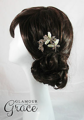 Abigail vintage wedding bridal comb fork headpiece hair piece accessory tiara