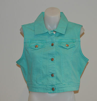 Cattlelac Ranch Ladies Vests- GREEN - SIZES M & L - NEW