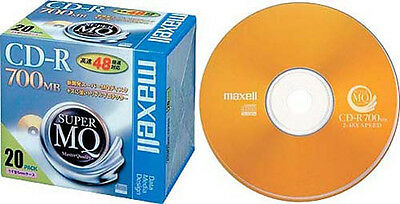 20 Maxell JAPAN Blank CD-R for Data Super Master Quality 700MB CDR 48x