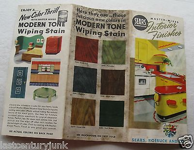 Paint Brochure For Sears Interior Finishes  With Color Swatches 1952