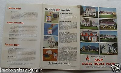 Paint Brochure For Sherwin-Williams SWP Gloss House Paint With Color Swatches 56