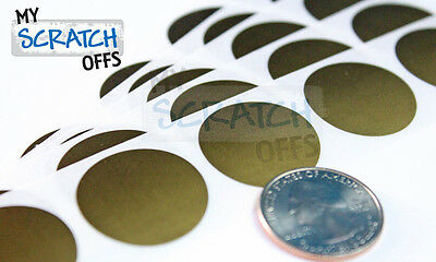 """Scratch off stickers 100 Gold Round 1"""" scratch-off label games favor (25.4mm)"""