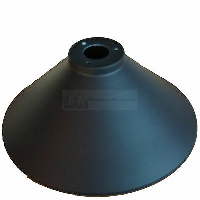 Pool or Snooker Table Black Light Shades x 3 Metal Shades