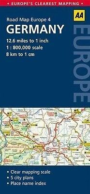 4. Germany: AA Road Map Europe by AA Publishing (Sheet map 2014)